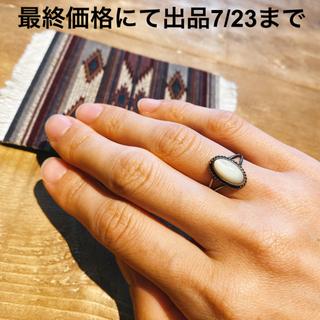 ダブルアールエル(RRL)の超希少!ビンテージナバホムーンストーンシルバーリングNAVAJO RRL30's(リング(指輪))