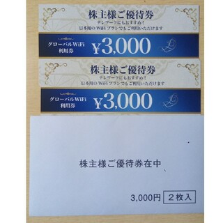 ビジョン株主優待券 3000円×2枚(その他)