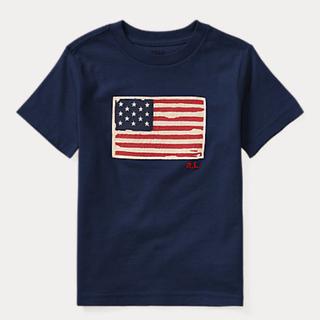 POLO RALPH LAUREN - ポロ ラルフローレン  170 星条旗 Tシャツ 半袖 ネイビー