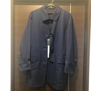 ユニクロ(UNIQLO)のユニクロ ジルサンダー ステカラーショートコート ブルー(スプリングコート)