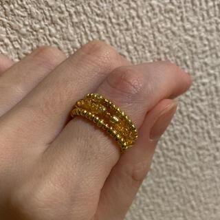 ザラ(ZARA)のゴールド ブレスレット ビーズリング ビーズアクセサリー 韓国(ブレスレット/バングル)