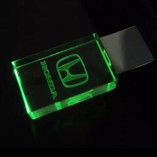 ホンダ(ホンダ)のHONDA  緑 ロゴ 文字 入り USBメモリ 32GB(車内アクセサリ)