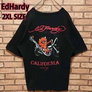 エドハーディー(Ed Hardy)のEdHardy エドハーディー バック プリント バイカー デビル Tシャツ(Tシャツ/カットソー(半袖/袖なし))