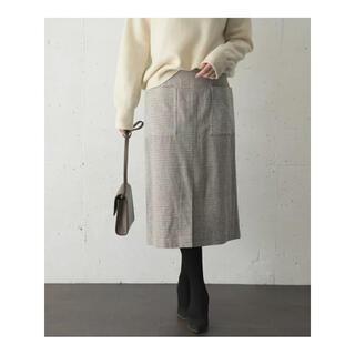 URBAN RESEARCH ROSSO - 【新品タグ付】ROSSO モールツイードスリットタイトスカート