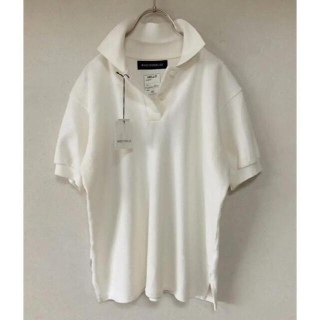 MADISONBLUE(マディソンブルー)の新品タグ付 MADISONBLUE  ポロシャツ ホワイト レディースのトップス(ポロシャツ)の商品写真