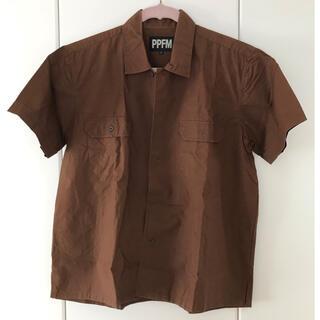ピーピーエフエム(PPFM)のPPFM カジュアルシャツ(半袖)(シャツ)
