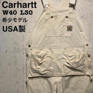 カーハート(carhartt)のCarhartt  オーバーオール 生成り ダブルニー レアタイプ 一点物 (サロペット/オーバーオール)