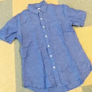 バックナンバー(BACK NUMBER)のBACKNUMBER 青 シャツ メンズ 半袖 フレンチ リネン バックナンバー(シャツ)
