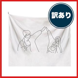 【訳あり】韓国風 インテリア 布ポスター 壁掛け タペストリー 線画 お洒落