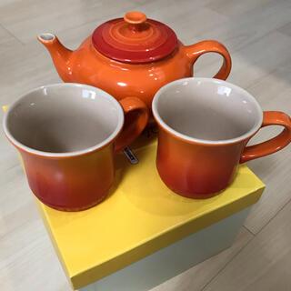 ルクルーゼ(LE CREUSET)のル・クルーゼ ティーポット&マグカップセット(食器)