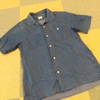 バックナンバー(BACK NUMBER)のBACK NUMBER デニム風 シャツ 半袖 バックナンバー 青 メンズ(シャツ)