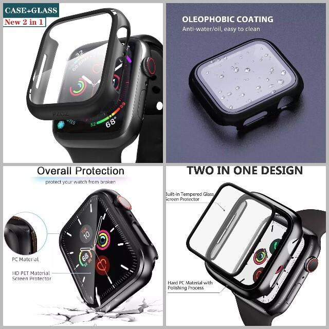 【新品】人気のAppleWatch全面保護カバーケース アップルウォッチ スマホ/家電/カメラのスマホアクセサリー(モバイルケース/カバー)の商品写真