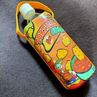 ドナルドダック(ドナルドダック)のドナルド デイジー ペットボトルホルダー カバー タコス柄 手持ち付 ディズニー(キャラクターグッズ)