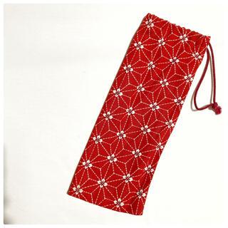 扇子入れ物 扇子ケース 扇子 赤 花柄 日本舞踊(和装小物)