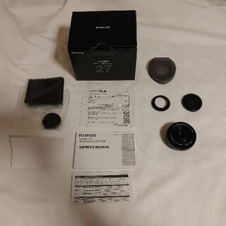 フジフイルム(富士フイルム)のXF27mmF2.8 R WR新品未使用 マルミ保護フィルター付(レンズ(単焦点))