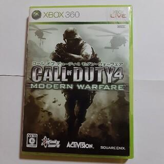 エックスボックス360(Xbox360)のXBOX360 COD4モダンウォーフェア 中古品(家庭用ゲームソフト)