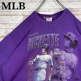 【古着】USA製 MLB ビッグプリント オーバーサイズ クルーネック Tシャツ