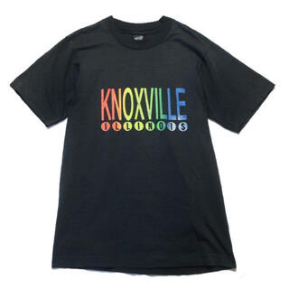 【90s】USA製 KNOXVILLE ロゴ プリント Tシャツ ブラック M