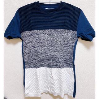 イッカ(ikka)の【美品】ikka フロントニットシャツ(Tシャツ/カットソー(半袖/袖なし))