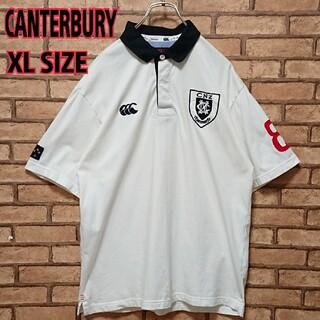 カンタベリー(CANTERBURY)のCANTERBURY カンタベリー メンズ ロゴ ワッペン 半袖 ポロシャツ(ポロシャツ)