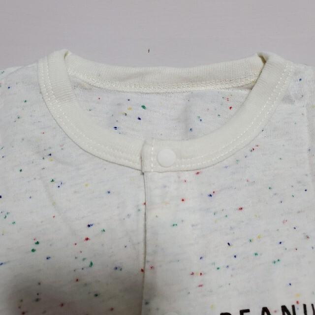 SNOOPY(スヌーピー)のベビー服 ロンパース スヌーピー 半袖 70~80サイズ キッズ/ベビー/マタニティのベビー服(~85cm)(ロンパース)の商品写真