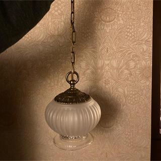 アンティーク 松下電工 真鍮 ガラスシェード ペンダントライト(天井照明)