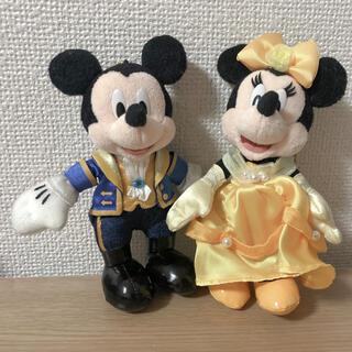 31周年 ディズニー ミッキー ミニー 美女と野獣 ぬいぐるみバッチ