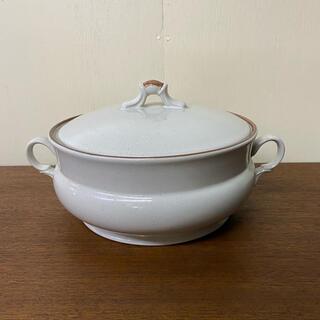 昭和レトロ ストーンウェア 陶器 両手鍋