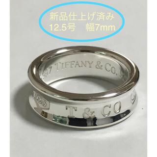 Tiffany & Co. - 【袋付き】美品 Tiffany ティファニー   シルバーリング ナローリング