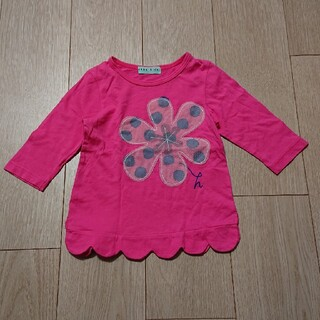 ハッカキッズ(hakka kids)の五分袖Tシャツ【100】hakka kids(Tシャツ/カットソー)
