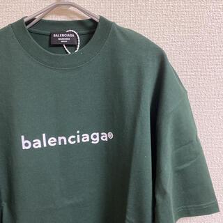 Balenciaga - 【完売カラー】BALENCIAGA ロゴTシャツ S ダークグリーン
