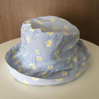 ベネトン(BENETTON)のベネトン 帽子 花柄 女の子 ブルー系 水色 カワイイ 日焼け止め キャンプ(その他)
