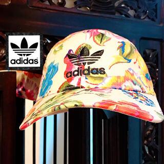 アディダス(adidas)のアディダス ファーム コラボ キャップ 帽子 花柄 ピンク ディズニー ゴルフ(キャップ)