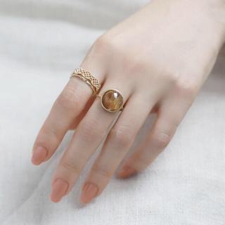 アネモネ(Ane Mone)のanemone アネモネ  リング ルチルクォーツのラウンドリング(リング(指輪))