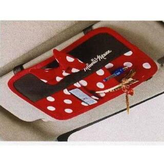 ディズニー(Disney)のミニー サンバイザー ポケット 車用 カードケース カーアクセサリー(車内アクセサリ)
