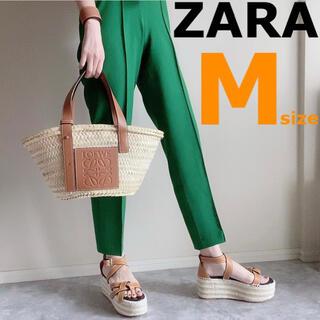 ZARA - ラスト【ZARA】ザラ M ダーツ入りハイウエストパンツ ハイライズパンツ