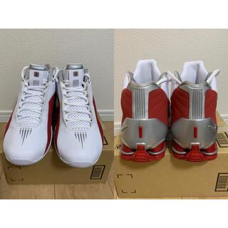 ナイキ(NIKE)の【新品】NIKE SHOX BB4スニーカー バスケットシューズ赤 白 メンズ(スニーカー)