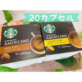 スターバックスコーヒー(Starbucks Coffee)のネスカフェ ドルチェグスト専用カプセル 20カプセル STARBUCKS(コーヒー)