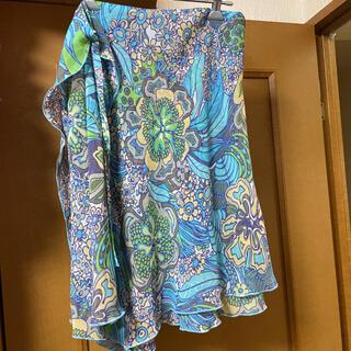 ベネトン(BENETTON)のベネトン 花柄シフォン ラップ風スカート(ひざ丈スカート)