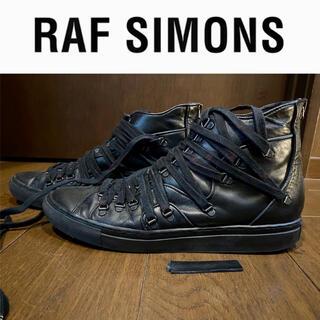 RAF SIMONS - RAF SIMONS ラフシモンズ 多重シューレース スニーカー ブラック 41