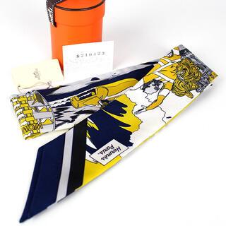 Hermes - Hermes エルメス ツイリー スカーフ ネイビー WOW アメコミ