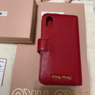 miumiu - miumiu iphone XS 手帳型ケース