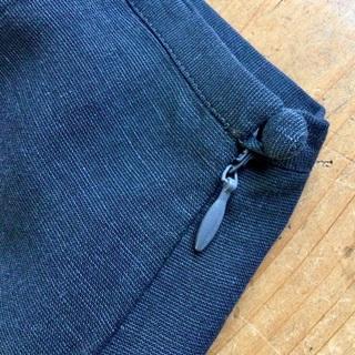 トゥモローランド(TOMORROWLAND)の トゥモローランド 麻 サマーウール ミニ スカート 濃紺 Aライン(ミニスカート)