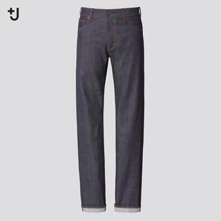 Jil Sander - +J ユニクロ デニム セルビッジ スリムフィットストレートジーンズ 35 紺
