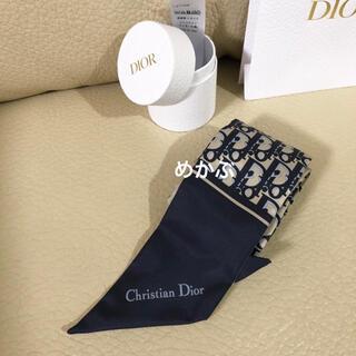 Christian Dior - DIOR ♥️ ミッツァ スカーフ♥️ 新品 オブリーク ネイビー♥️