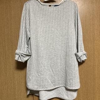 ラフ(rough)の袖がリボン(カットソー(長袖/七分))