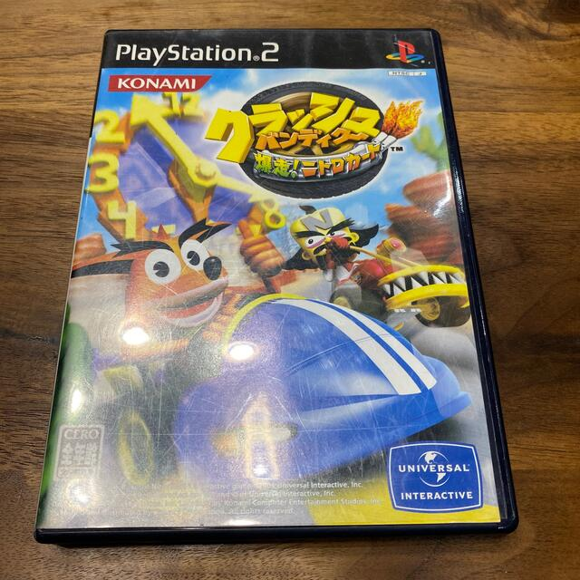 KONAMI(コナミ)の【再値下げ】クラッシュ・バンディクー 爆走! ニトロカート PS2 エンタメ/ホビーのゲームソフト/ゲーム機本体(家庭用ゲームソフト)の商品写真