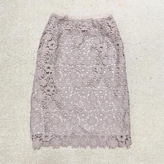 アンアナザーアンジェラス(an another angelus)のan another angelus レースタイトスカート(ひざ丈スカート)