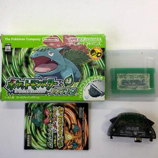 ゲームボーイ(ゲームボーイ)のゲームボーイ ポケットモンスター リーフグリーン 緑(携帯用ゲームソフト)