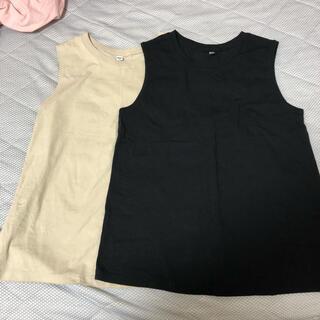UNIQLO - ユニクロ ノースリーブTシャツ2枚セット